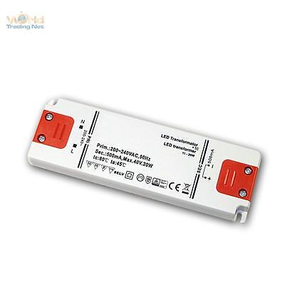 Slim LED Transformer Constant Current 500ma, 20w, 40v, Driver Evg Throttle