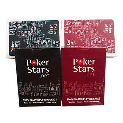High Quality PLASTIC New Playing Cards Sealed Poker Standard Casino Game Size