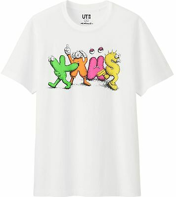 KAWS x UNIQLO 'Multi-Color Name' SPRZ NY Graphic Art T-Shirt SOLD-OUT M Wht NWT!