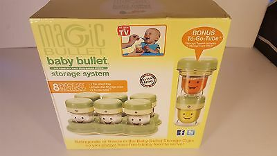 Baby Bullet Storage System 8 Piece Set with Bonus To Go Tube Magic Bullet NIB