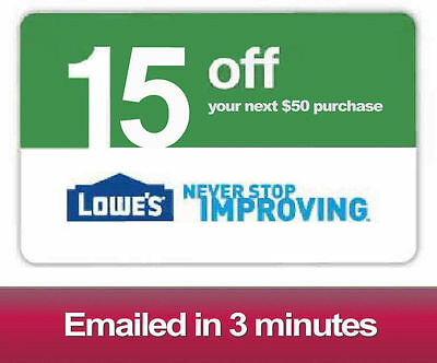 Lowes $15 OFF $50 Printable-Coupons Lowe's - Exp 04/04/17 - Fast Delivery