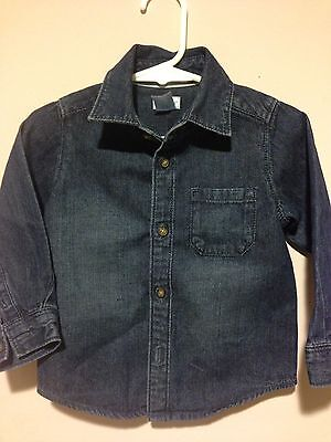 Carter's Baby Boys Jeans Shirt Blue 18M