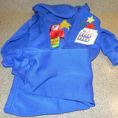 #475 New NWT Lil Pint Size 3 Piece Blue Sweats Sweatsuit Robot Star Trim Clothes