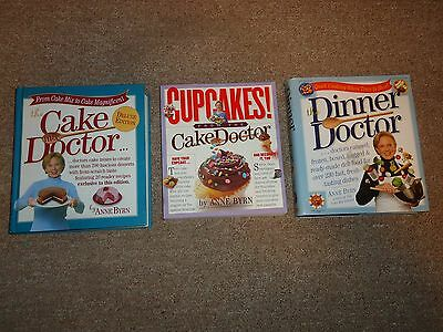 Lot 3 Anne Byrn Cake Mix Doctor Books Deluxe Edition Cupcakes Dinner HC PB