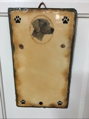 Weimaraner Dry Erase Slate Board By Kims Crafts ~ Sale Inventory Clearance