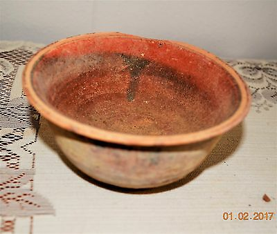 """Ancient 5"""" Clay Bowl From The Holy Land or Other MidEast Country, 1 Chip"""