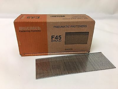 "18 Gauge 1-3/4"" long F45 Galvanized Chisel Point Brad Nails 5,000 qty. Unicatch"