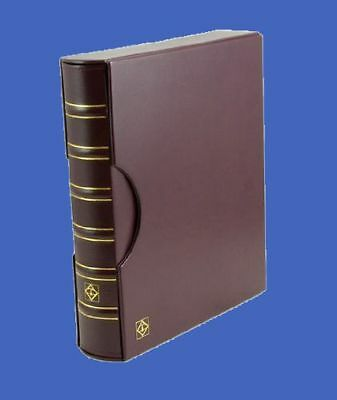 Certified 36 Coin Album Lighthouse Grande Binder Slipcase 4 Pages Red/Burgundy