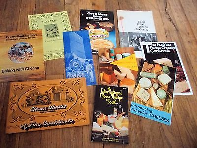 Lot of 10 Vintage Recipe Booklets Pamphlets Advertising Cheese Theme