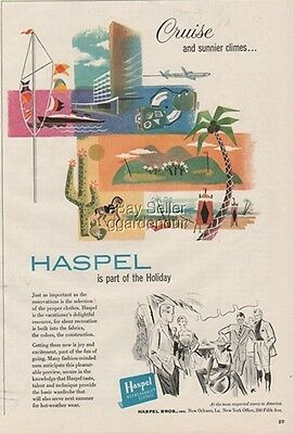 1956 Haspel Brothers New Orleans LA 50s Men's Fashion Vintage Summer Clothes Ad