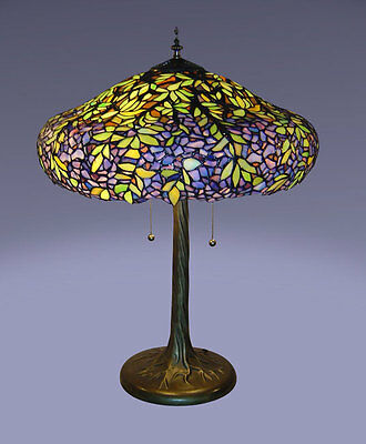 Tiffany Style Stained Glass Laburnum Table Lamp