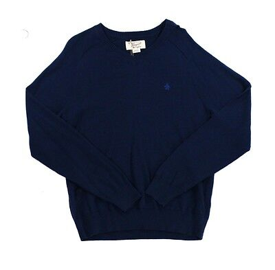 Penguin NEW Solid Navy Blue Mens Size 2XL Ribbed V-Neck Sweater $79 670 DEAL