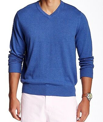 TAILORBYRD NEW Blue Mens Size XL V-Neck Long-Sleeve Pull-Over Sweater $80 667