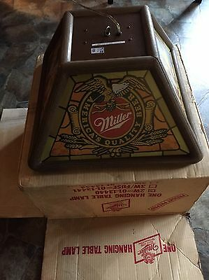 Wow!!! New!! Miller Beer Hanging Table Lamp!!!