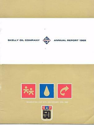 Skelly Oil Company Annual Report Magazine 1968 Anniversary Issue 1919 1969