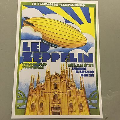 Led Zeppelin - Concert Poster - Milano Italy 1971    (A3 Size)
