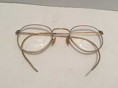 Vintage Ao American Optical Round Fulvue  Eyeglasses Cable Wrap 1/10 12kgf