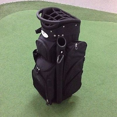 2017 Eagles & Birdies BIG FRIDGE Deluxe Cart Bag LOADED WITH FEATURES - Black