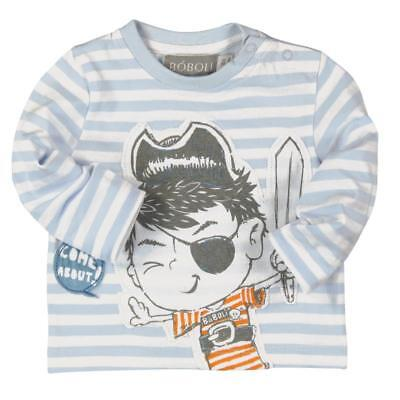 Bóboli Boy's Long Sleeve Shirt Pirate striped sz. 74 - 92
