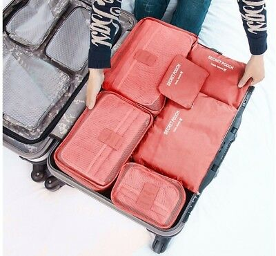 6Pcs Waterproof Travel Storage Bag Clothes Packing Cube Luggage Organizer