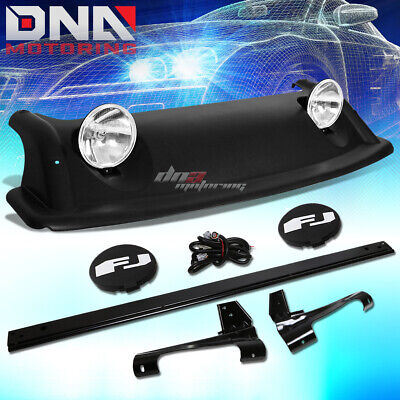 For 07-11 Fj Cruiser Oe Style Roof Rack Offroad Air Dam+Fog Light+Cover+Mount