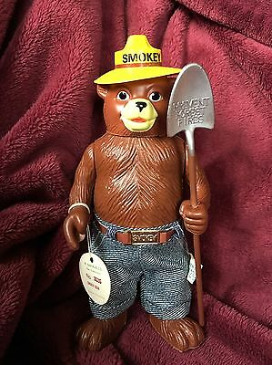 Vintage 1970's Smokey The Bear Figure with Denim Jeans & Shovel - Mint