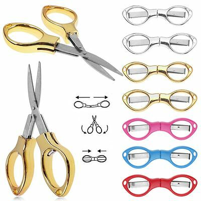 Folding Camping Stainless Steel ABS Scissors Keychain Fishing Shears Mini Cutter