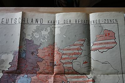 Vintage German Map of WWll Occupied  Zones