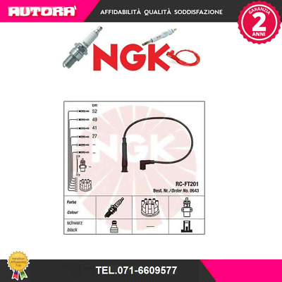 Kit cavi candele accensione NGK RC-FT201 FIAT LANCIA