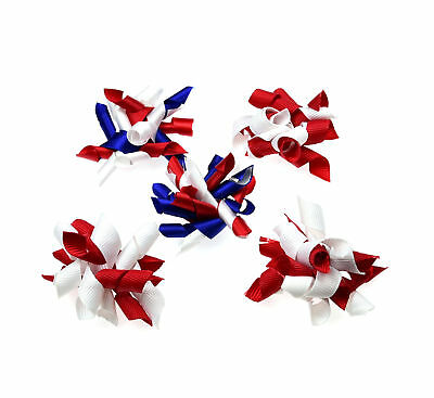 Pet Dog Hair Bows for 4th of July/July 4 Red White Blue Dog Hair Accessories