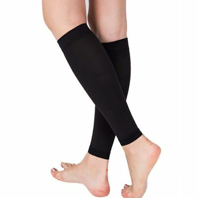 Exercise Sport Socks Pair Calf Support Graduated Compression Leg Sleeve Outdoor