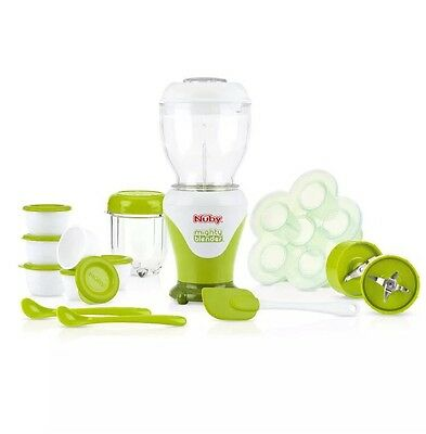 NIB 22 Piece Nuby Garden Fresh Mighty Blender Baby Food Maker System Blender