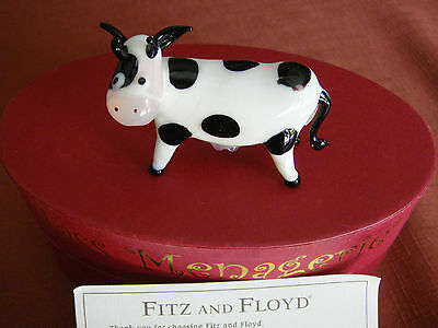 Fitz & Floyd Cow Glass Figurine