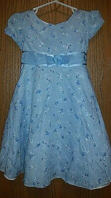 Spring Easter Wedding Formal Toddler Girls Dress Blue  Size 2T