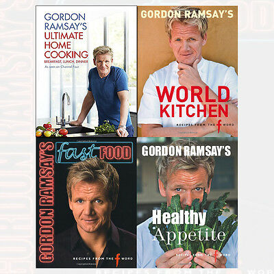 Gordon Ramsay Collection Ultimate Home Cooking 4 Books Set Fast Food NEW BRAND