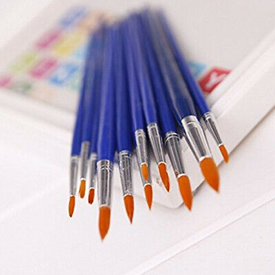 12X Round Point Tip Nylon Brush Artist Paint Water Color Painting Pens Stunning