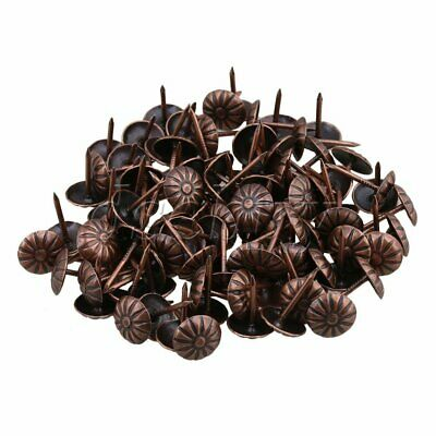 100pcs Elegant Vintage Studs Bronze Pins 11x16mm Upholstery Nails For Furniture