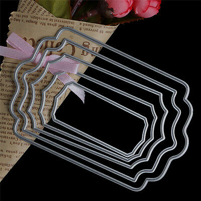 Lace Rectangle Cutting Dies Stencils DIY Scrapbooking Album Embossing Card Craft