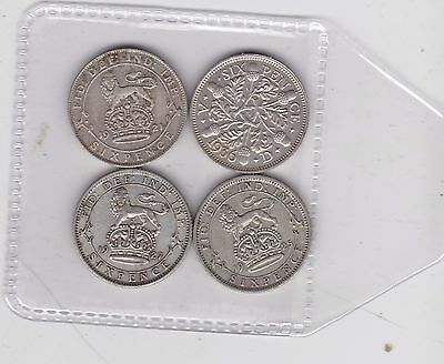 1921/1925/1927 & 1936 Sixpences In Very Fine Or Slightly Better Condition