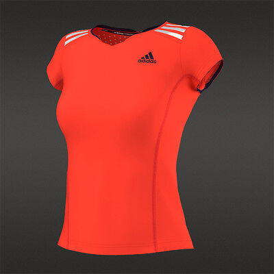 adidas Climachill Women's T-Shirt - Solar Red - RRP: £30