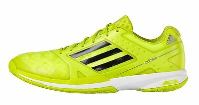 adidas Adizero Feather Mens Badminton Trainers - Solar Yellow - RRP: £100