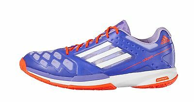 adidas Adizero Feather Womens Badminton Trainers - Purple/Solar red - RRP: £100