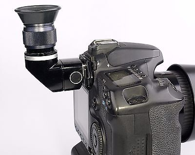 Canon Angle Finder  made from a Olympus varimagnifier with adapter to Canon