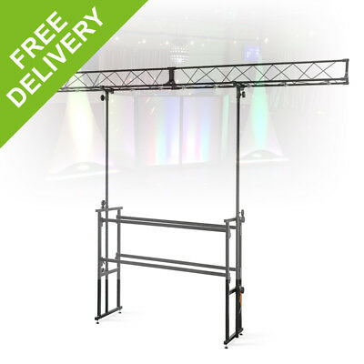 Vonyx DJ-4 Steel DJ Deck Stand With Light Rig 4ft Lighting Truss Gantry Trussing