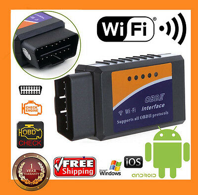 ELM327 WIFI OBD2 OBDII Car Diagnostic Scanner Tool Code Reader for Android IOS