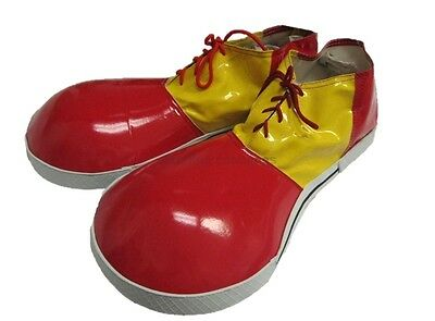 Children Jumbo Clown Shoes Red Yellow Costume Accessory Circus Footwear Adult