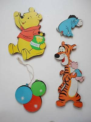 Dolly Toy Disney Winnie Pooh Eeyore Tiger Wall Hang Pin Up Vintage 4pc Set