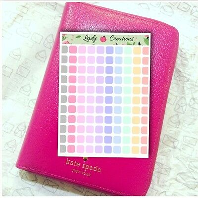 103 | Bullet Journal Dot Points List Dots Square HOMEMADE Planner Stickers