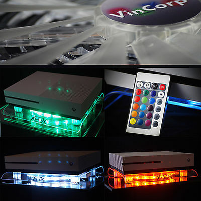 VINCORP ® Multicolor LED USB Design Kühler Lüfter Ständer Xbox One S / X Scorpio