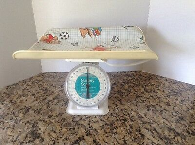 Vtg Toddler Time JCPenny Nursery Baby Scale & Tray Weighs Up To 30 lbs